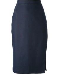 Navy midi skirt original 1470057