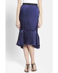 Lanvin Ruffled Hem Midi Skirt