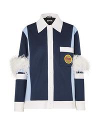 Miu Miu Med Color Block Neoprene Jacket