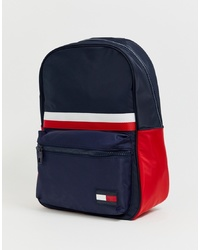 Tommy Hilfiger Sports Mix Corporate Stripe Nylon Back Pack In Navy