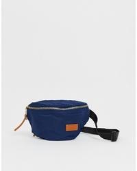 Pull&Bear Nylon Bumbag In Blue