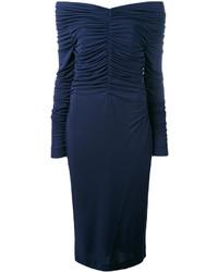 Salvatore Ferragamo Ruched Midi Dress