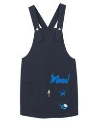 Mango Saturno H Denim Dress Navy