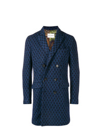 Etro Double Breasted Patterned Coat