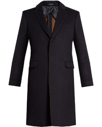 Alexander McQueen Frayed Edge Single Breasted Coat