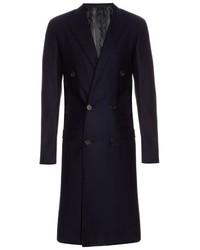 Lanvin Peak Lapel Double Breasted Coat