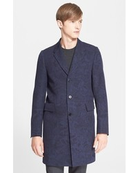 Paul Smith Ps Extra Trim Fit Print Canvas Topcoat