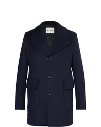 Salle Privée Scott Slim Fit Virgin Wool Blend Overcoat