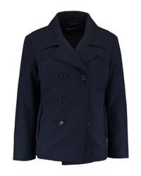 YOURTURN Short Coat Dark Blue