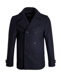 Tommy Hilfiger Tartan Peacoat Classic Coat Blue