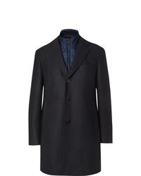 Hugo Boss Wool Blend Coat With Detachable Shell Gilet