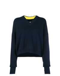 Maison Margiela Contrast Sleeve Cropped Sweater