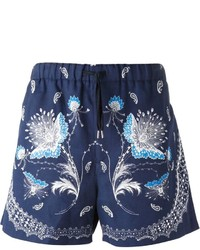 Alexander McQueen Floral And Paisley Print Shorts