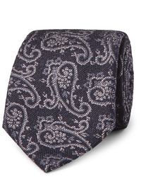 Etro 8cm Paisley Woven Silk And Wool Blend Tie