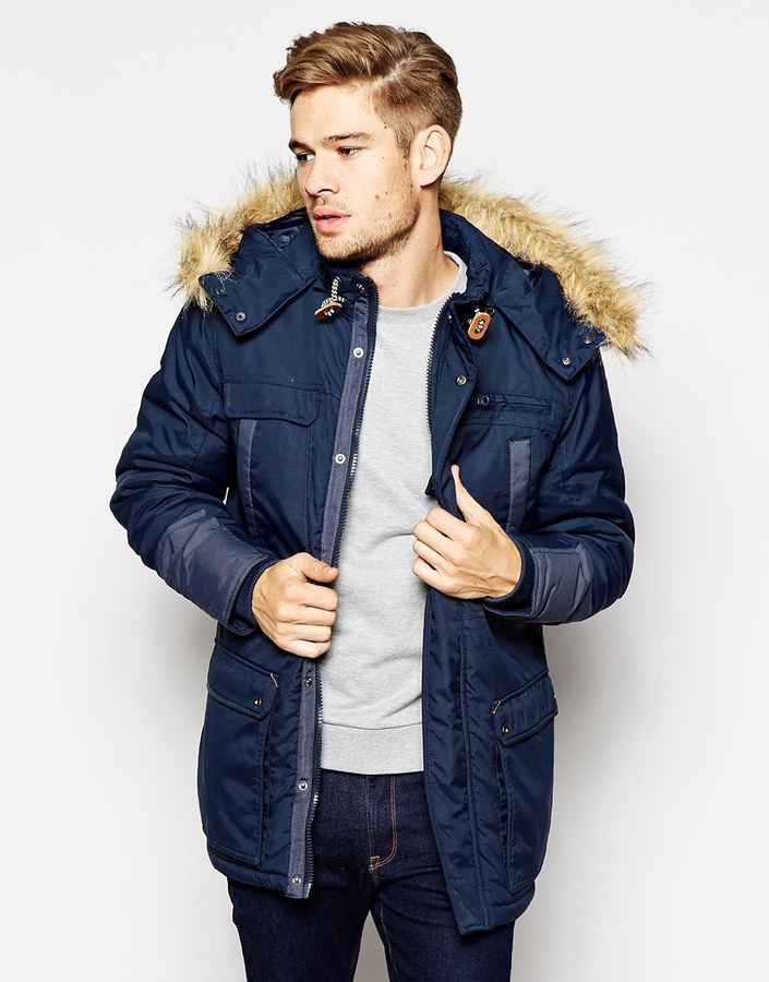 Blend of America Blend Hooded Heavy Parka Jacket | Where to buy ...