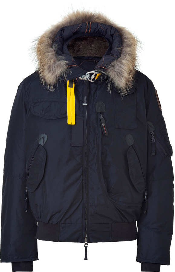 ... Parajumpers Down Gobi Bomber Parka In Navy