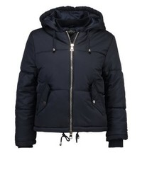 Topshop Matilda Winter Jacket Navy Blue