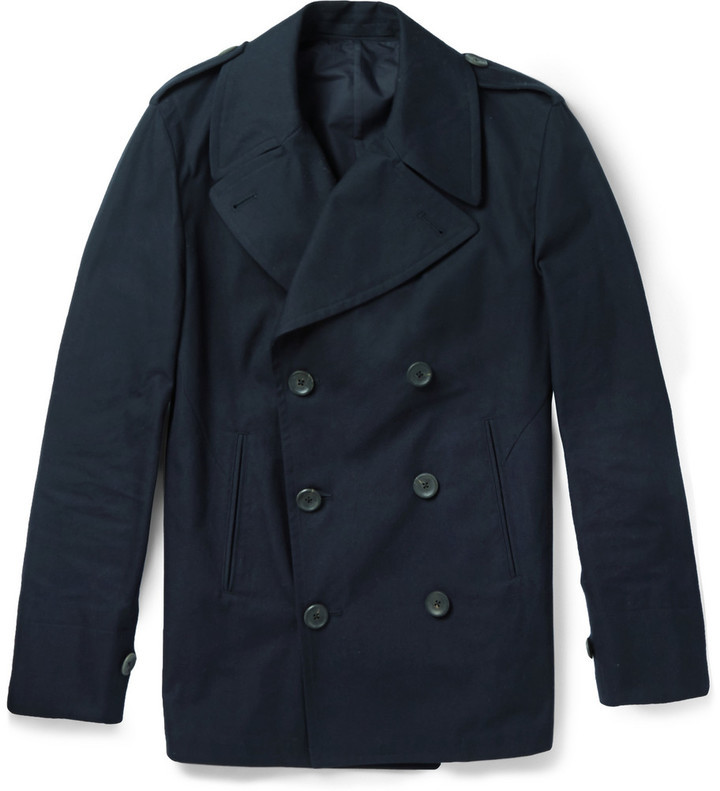 Dunhill Double Breasted Cotton Peacoat | Where to buy & how to wear