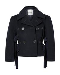 Noir Kei Ninomiya Double Breasted Cropped Wool Jacket