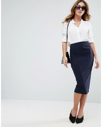 Asos High Waist Longerline Pencil Skirt