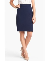 Jones New York Lucy Seasonless Stretch Pencil Skirt Navy 2