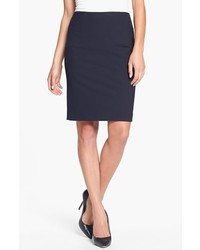 Halogen Pencil Skirt Midnight Navy 8p