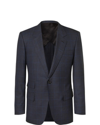 Kingsman Navy Slim Fit Prince Of Wales Checked Wool Suit Jacket