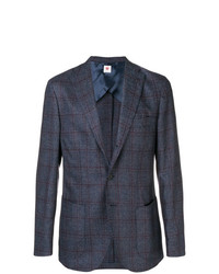 Borrelli Plaid Blazer Jacket