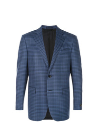 Ermenegildo Zegna Plaid Print Suit Jacket