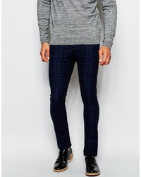 Asos Brand Super Skinny Pants In Check