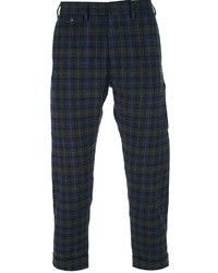 Mauro Grifoni Cropped Checked Trouser