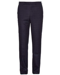 Gieves Hawkes Check Wool Flannel Trousers