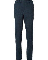 Raf Simons Slim Fit Check Wool Blend Suit Trousers