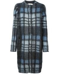 Checked midi coat medium 421958