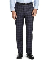 Navy Plaid Dress Pants