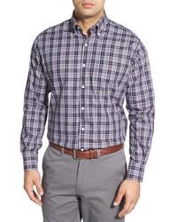 Adler plaid regular fit twill sport shirt medium 586385
