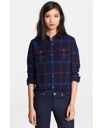 Plaid wool blend shirt medium 61056