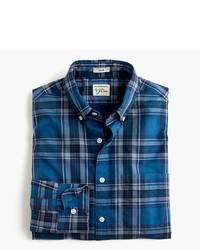 Secret wash shirt in heather classic blue tartan medium 735328