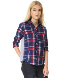 Too mix media plaid shirt medium 851844