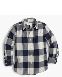 J.Crew Kids Crinkle Poplin Shirt In Buffalo Plaid