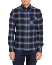 Michl slim fit plaid flannel shirt medium 962907