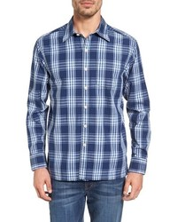 Bueno costa standard fit plaid sport shirt medium 915508