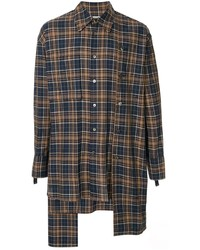 Wooyoungmi Check Asymmetric Shirt