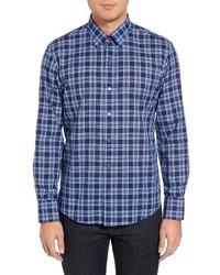 Leventhal trim fit plaid sport shirt medium 1150059