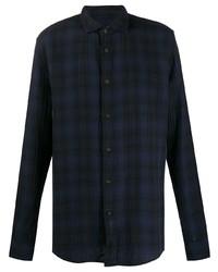 Deperlu Long Sleeve Check Print Shirt