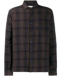 YMC Long Sleeved Check Pattern Shirt