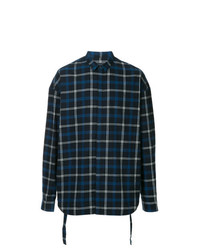 Juun.J Loose Fit Plaid Print Shirt