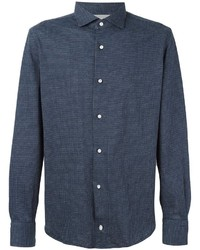 Eleventy Plaid Longsleeved Shirt