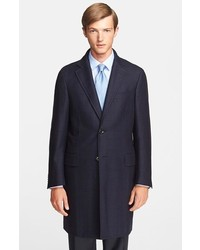 Plaid wool overcoat medium 134437