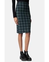 Black watch print tube skirt medium 17401